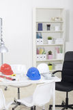 Hardhat  and measuring instruments Royalty Free Stock Image