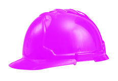 Hardhat pink colored isolated on white Royalty Free Stock Image