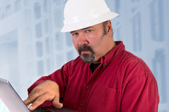 Hardhat Technician Looking Trustfully Royalty Free Stock Images
