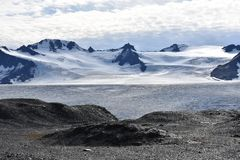 Harding Ice Field in Seward, Alaska royalty free stock photography