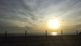 Hardings beach. This is the sun setting in chatham Massachusetts Royalty Free Stock Photography