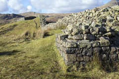 Hardknott Castle wall East entrance Royalty Free Stock Photos