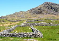 Hardknott Roman Fort Stock Photo