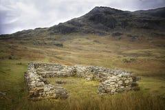 Hardknott Roman Fort, sjöområde, England fotografering för bildbyråer