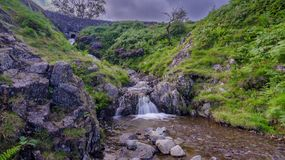 Free Hardnott Pass Waterfall And Bridge, Lake District, UK Stock Photo - 157322360