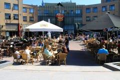 Hardrock cafe square, Amsterdam, The Netherlands, Europe Stock Images