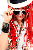 Hardrock girl Royalty Free Stock Photography