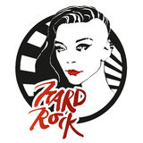 HardRock. Hard rock icon with beautiful girl Royalty Free Stock Image