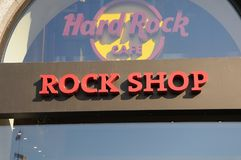 Hardrock kawiarnia Obraz Royalty Free
