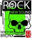 Hardrock-Musik-Plakat lizenzfreie abbildung