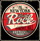 Hardrock-Musik-Plakat stock abbildung