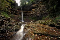 Hardrow Force. Autumn at Hardrow Force, Yorkshire Royalty Free Stock Photos