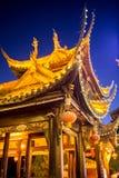 Hardscape chino, un parque con una charca Imagen de archivo libre de regalías