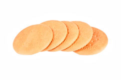 Hardtack cookie. Some hardtack cookie, isolated on white background Stock Photography