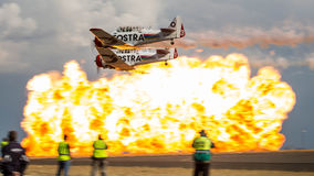 Harvard Formation with Explosion Royalty Free Stock Image