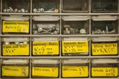Hardward drawers Stock Photos