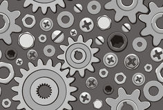 Hardware background. Seamless background for the design layout of the industry stock illustration