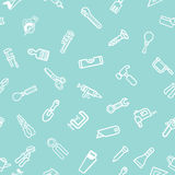 Hardware background. A repeatable background tile featuring lots of hardware and tool icons stock illustration