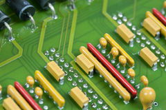 Hardware. Circuit board with electronic components Stock Photo