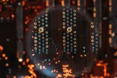Hardware condutor do componente eletrônico da trilha do PWB imagem de stock
