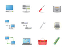 Hardware and connections icon Stock Photo