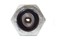 Hardware da porca com twirl de aço imagens de stock