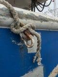 Hardware de envejecimiento del barco de pesca imagen de archivo