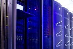Hardware del servidor para el centro de datos con el terminal de control imágenes de archivo libres de regalías