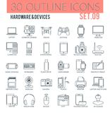 Hardware & devices Icons Stock Photos