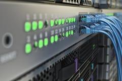 Hardware di comunicazione di Internet e della connessione di rete, attrezzatura di telecomunicazione del centro dati fotografia stock libera da diritti
