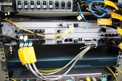 Hardware di telecomunicazioni tappato Immagine Stock Libera da Diritti