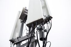 Hardware di telecomunicazioni tappato Immagini Stock