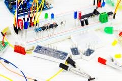 Hardware engineer`s workplace Stock Photo