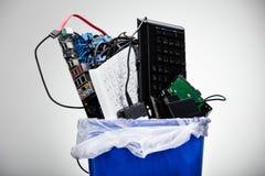 Hardware Equipment In Dustbin Stock Images
