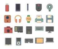 Hardware Flat Icons Stock Photo