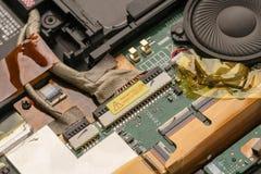 hardware Foto van laptop motherboard, close-up Stock Afbeeldingen