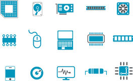 Hardware Icon Set Stock Photo