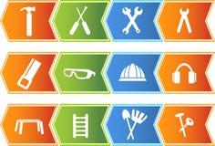 Hardware Icon Set: Arrow Button Series royalty free illustration