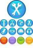 Hardware Icon Set: Round Web Button Series Royalty Free Stock Images
