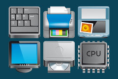 Hardware  icons Stock Photos