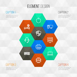 Hardware Outline Icons Set. Collection Of Datacenter. Laptop, Modem And Other Elements Stock Images