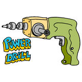 Hardware power drill Royalty Free Stock Image