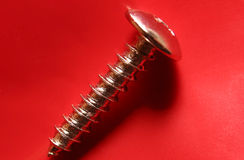 Hardware on Red Background royalty free stock photos