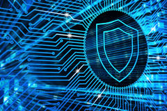Hardware security, computer data protection and electronic technology concept Stock Photos
