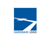Hardware-software bedrijfembleem royalty-vrije illustratie