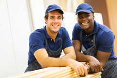 Hardware store co-workers. Looking at the camera Royalty Free Stock Photography