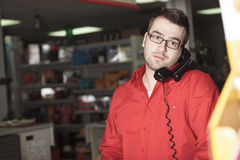 Hardware store employee Stock Photos