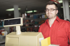 Hardware store employee Royalty Free Stock Photos