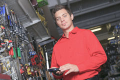 Hardware store employee Stock Images