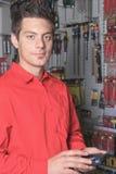 Hardware store employee Stock Image